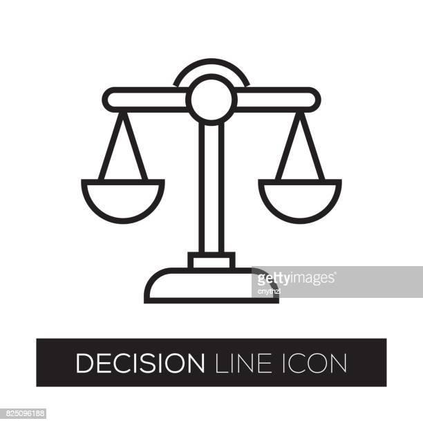 DECISION LINE ICON