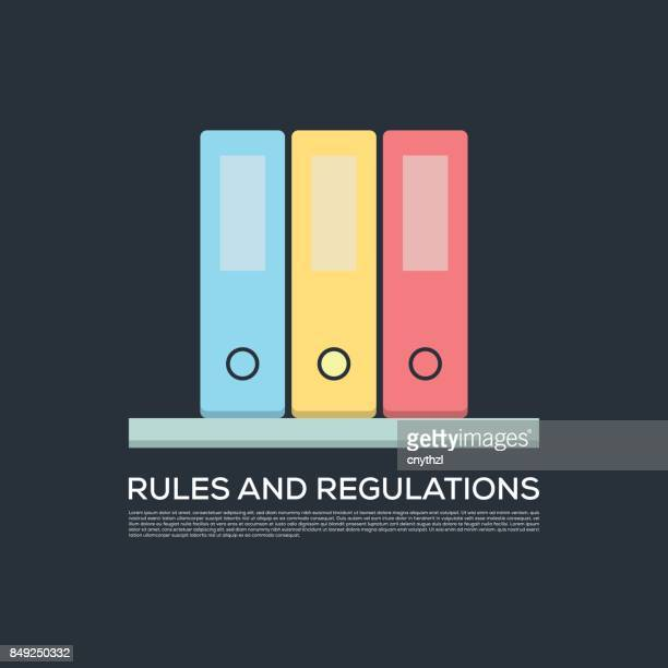 RULES AND REGULATIONS CONCEPT VECTOR ICON