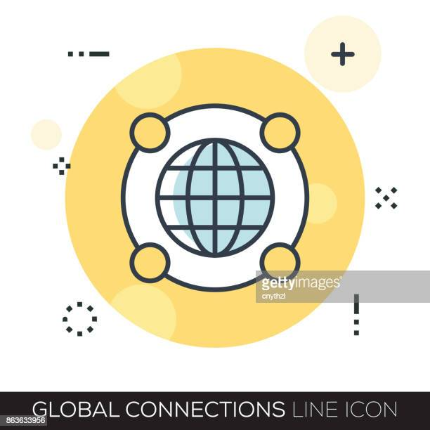 GLOBAL CONNECTIONS LINE ICON