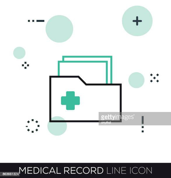 MEDICAL RECORD LINE ICON