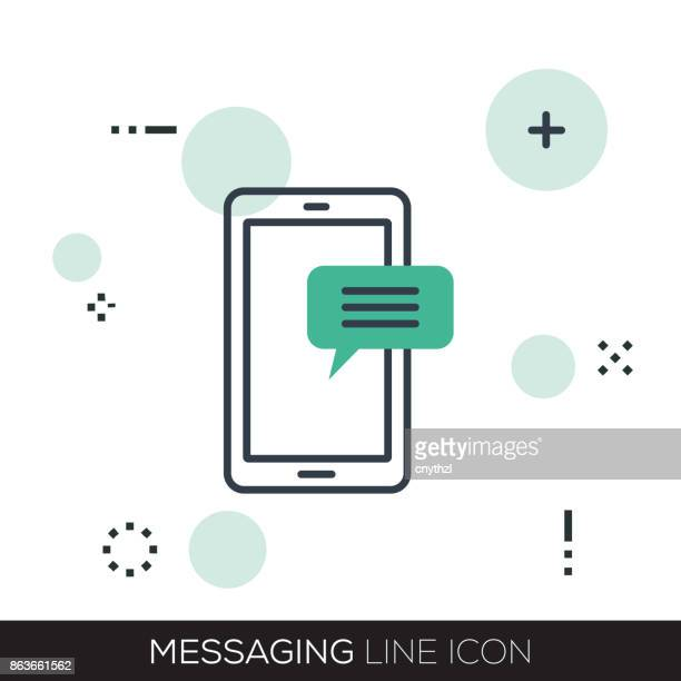 MESSAGING LINE ICON