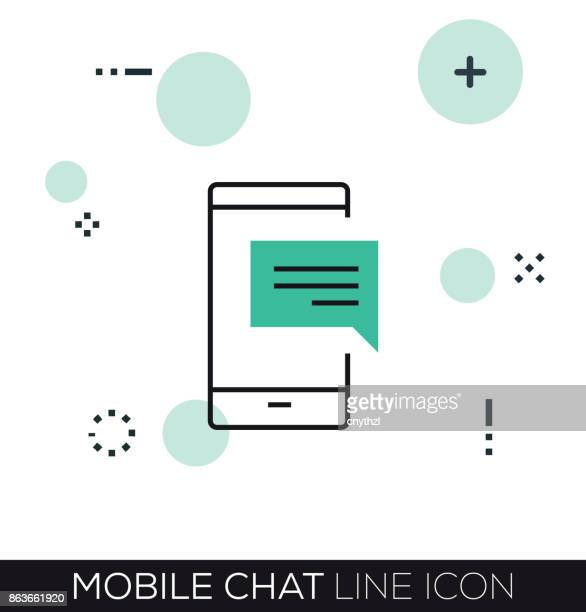 MOBILE CHAT LINE ICON