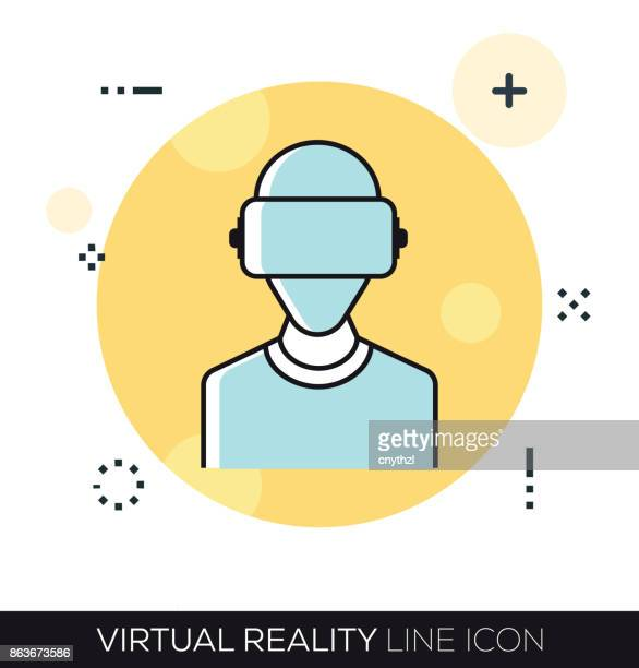 VIRTUAL REALITY LINE ICON