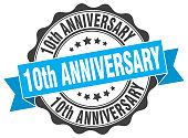 10th anniversary stamp. sign. seal