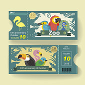 adorable 10th anniversary ticket design template for zoo