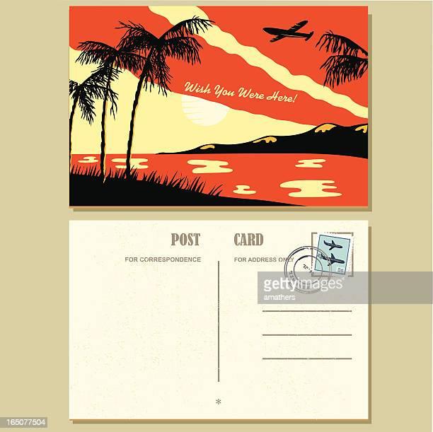 Der 1940 er Jahre Stil Postkarte