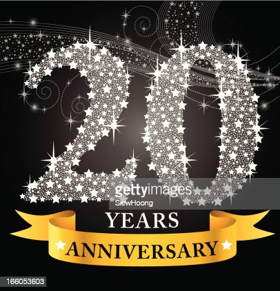 20th anniversary vector art getty images for What do you give for a 20 year anniversary