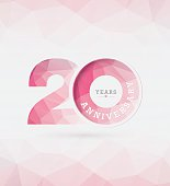 20th Years Anniversary Template Vector