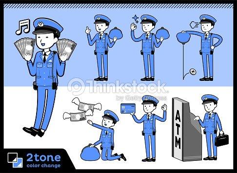 a7a9d1b735376 2tone Type Police Menset 11 stock vector - Thinkstock