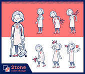 2tone type Research Doctor old women_set 08