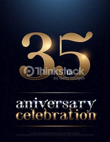 35th Anniversary Celebration Colored Metal Chrome Alphabet Elegant