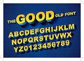 Vector of big retro 3d alphabet