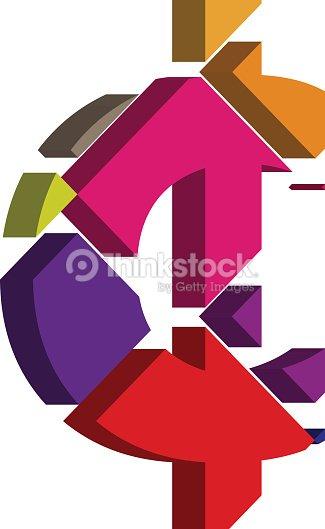 3d Cent Symbol Vector Art Thinkstock