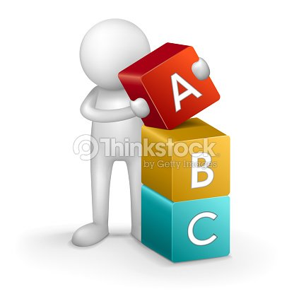 3d child and word abc vector art thinkstock