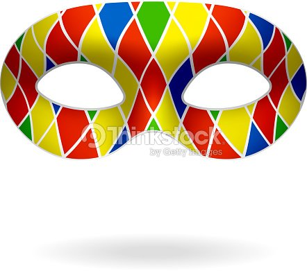 Masque Arlequin Clipart Vectoriel Thinkstock