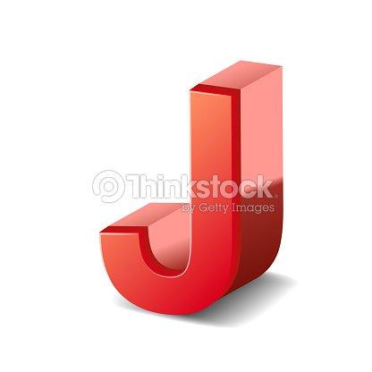 3 D Rouge Lettre J Clipart Vectoriel Thinkstock
