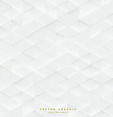 3d Triangle seamless vector pattern, white geometric business background