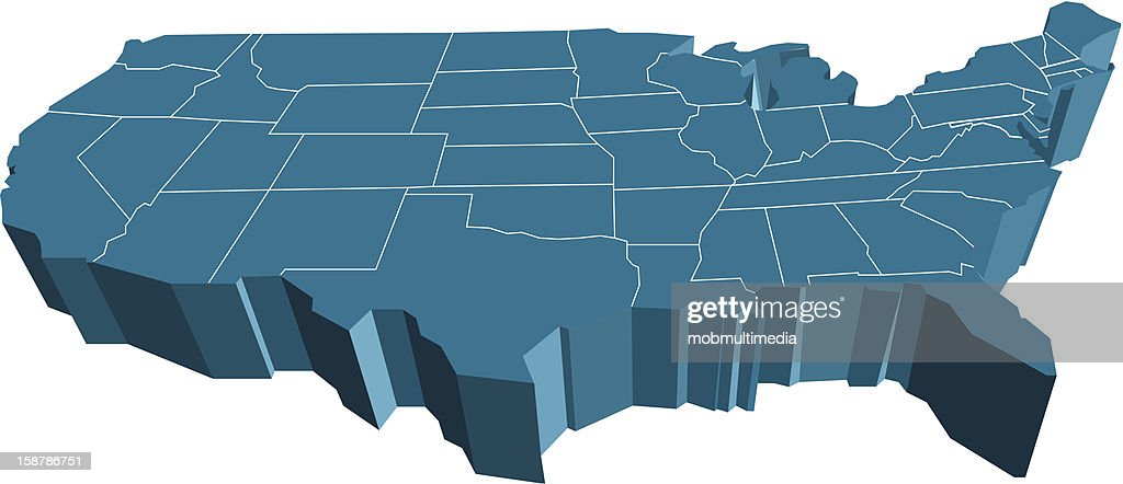 3d Usa Map Vector Art Thinkstock