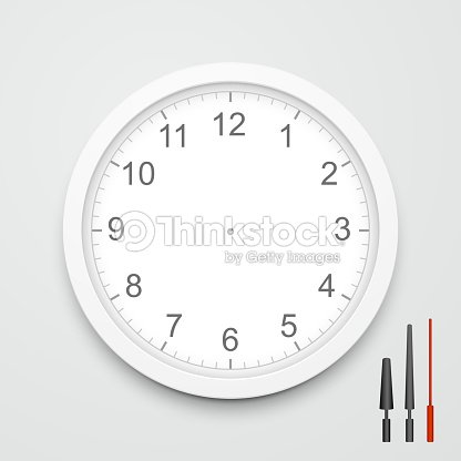 3d Vector Blank Clock Face Vector Art | Thinkstock
