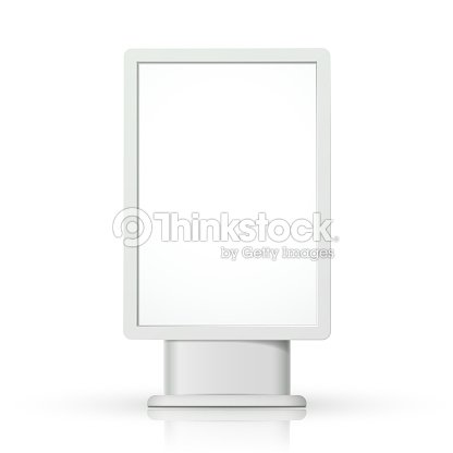 3d vector vertical blank lightbox template vector art thinkstock