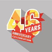 46th Years Anniversary Celebration Design
