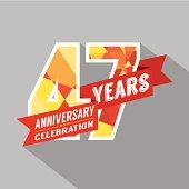 47th Years Anniversary Celebration Design
