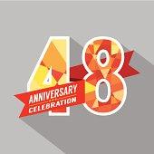 48th Years Anniversary Celebration Design