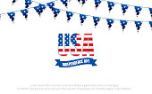 4th of July holiday banner. Fourth of July. USA Independence Day banner for sale, discount, advertisement, web etc..
