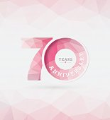 70th Years Anniversary Template Vector
