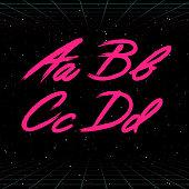 80s Retro Futuristic Brush Stroke font