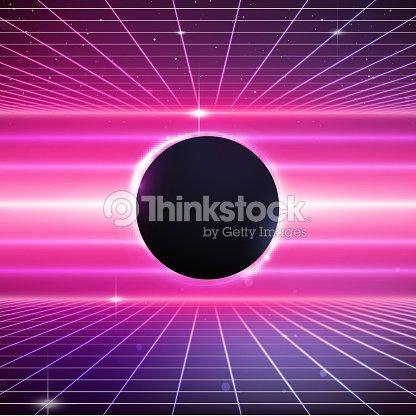 80s Retro Scifi Background stock vector - Thinkstock