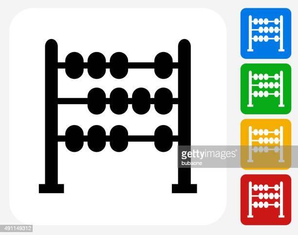 Abacus Icon Flat Graphic Design