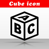 Illustration of abc cube vector icon design