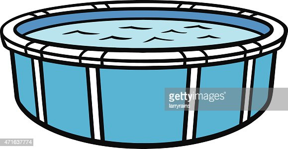 Above Ground Swimming Pool Vector Art Thinkstock
