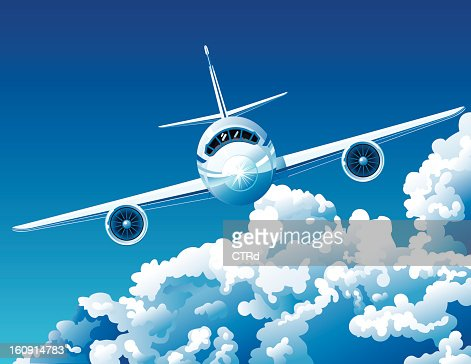 Above the clouds : Clipart vectoriel