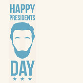 Abraham Lincoln, Happy Presidents Day. Holliday in United States. Vector illustration.