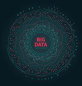 Abstract 3D Big Data Visualization. Futuristic Infographics Design - Illustration Vector