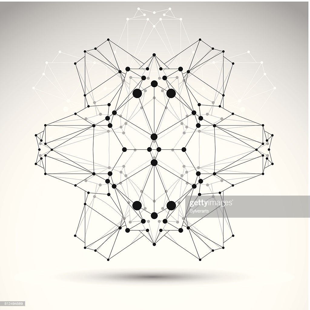 Abstract 3d Origami Polygonal Wireframe Object Vector ... - photo#15