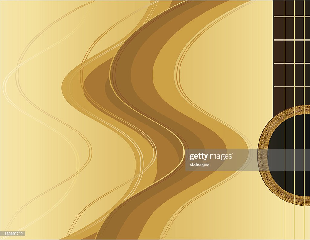 Abstract Acoustic Guitar Design Or Background Vector Art ...