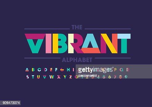 Abstract alphabet : stock vector