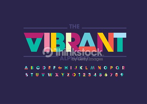 Abstract alphabet : arte vetorial