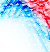 Illustration abstract American Flag for Independence Day - vector