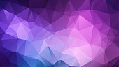 Abstract amethyst background consisting of colored triangles