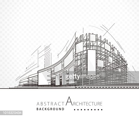 Abstract Architecture Building : Vector Art