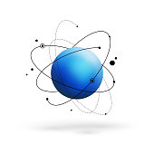 Atom stock photos and illustrations royalty free images thinkstock abstract atom with core and orbits with electrons vector illustration 3d chemical technology concept ccuart Images