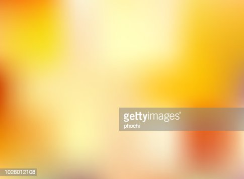 Abstract autumn season orange and yellow bright color blurred background. : Vector Art