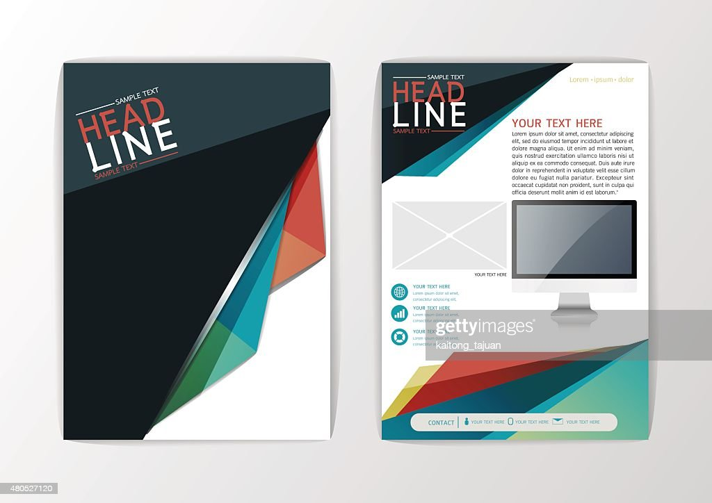 A4 Abstract Background, Business design brochure flyer layout, magazine, Vector : Vector Art