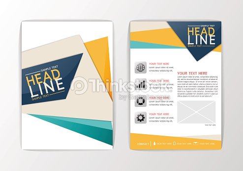 A4 Abstract Background Cover Design Brochure Set Flyer Layout