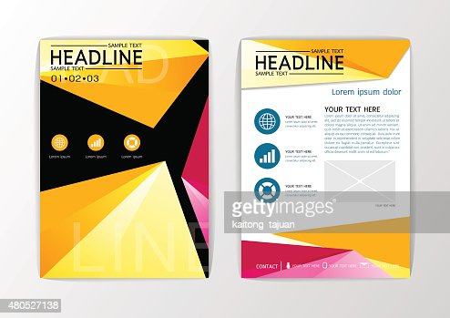 A4 Abstract background, design business brochure set ,flyer layout, magazine-vector : Vector Art
