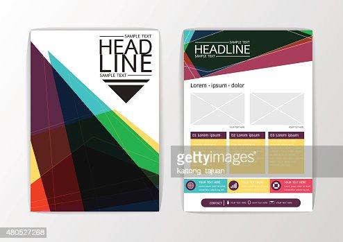 抽象的な背景のモダンなデザインテンプレートのレイアウト、ビジネスパンフレット、チラシ、ベクター : ベクトルアート